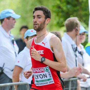 Julien Lyon im Halbmarathon an der EM 2016 in Amsterdam (Photo: athletix.ch)