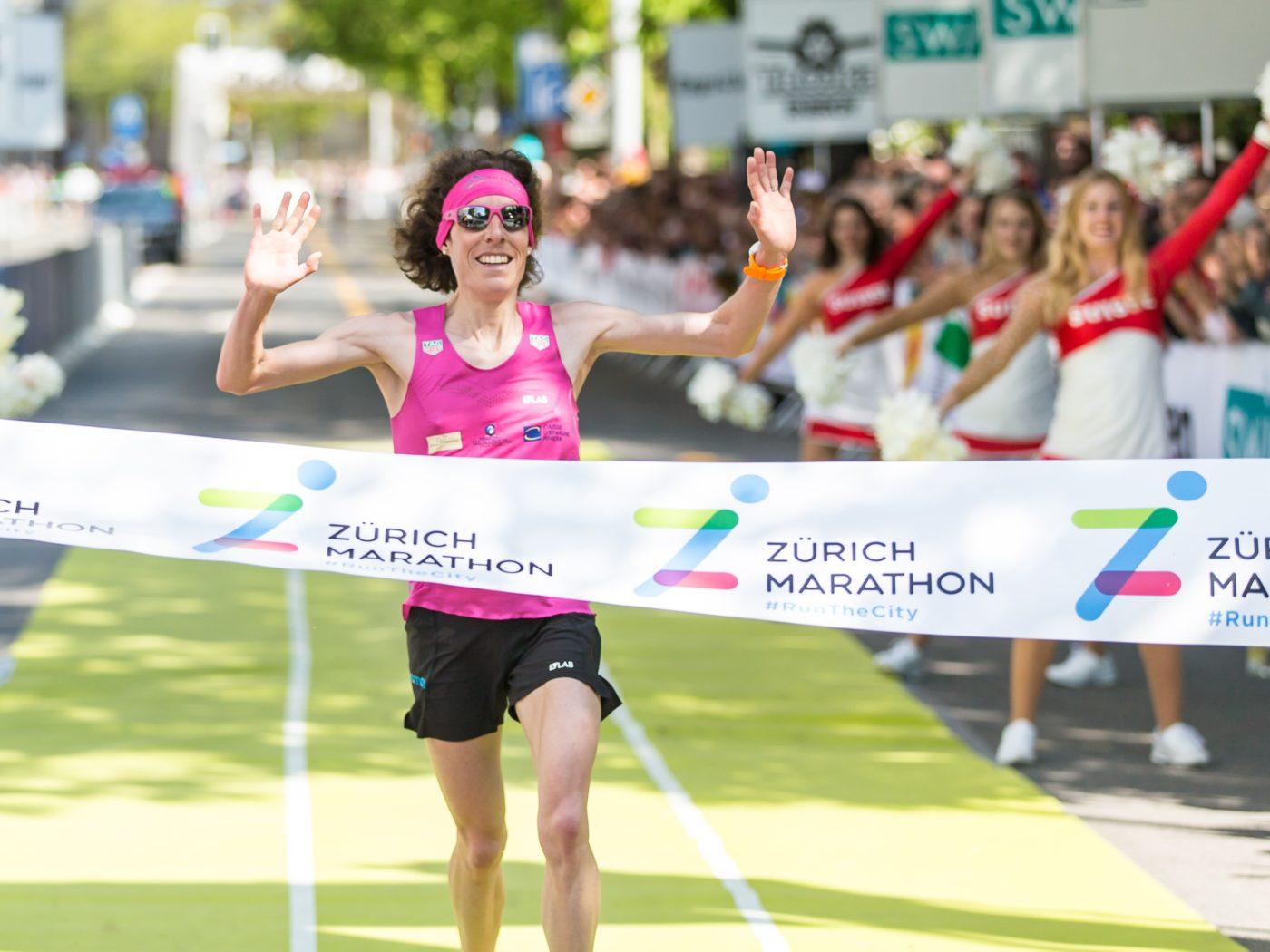 Maude Mathys gewinnt den Zürich-Marathon 2018 (Photo: athletix.ch)