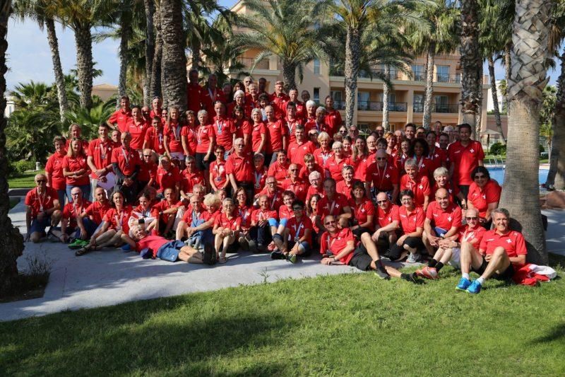 Das Schweizer Team an der Masters-EM 2018 in Alicante (ESP)