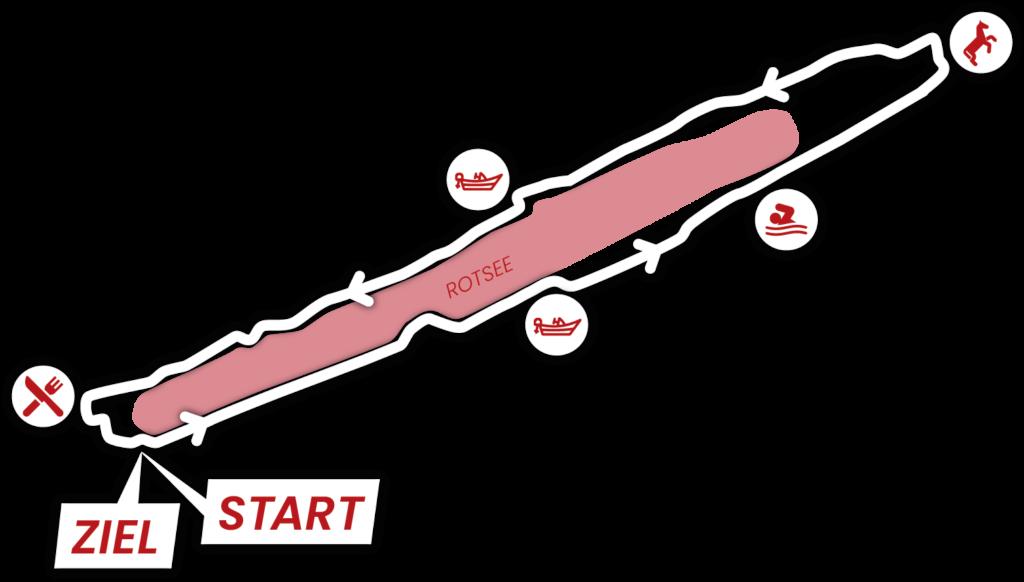 Strecke Rotsee - Start Regatta