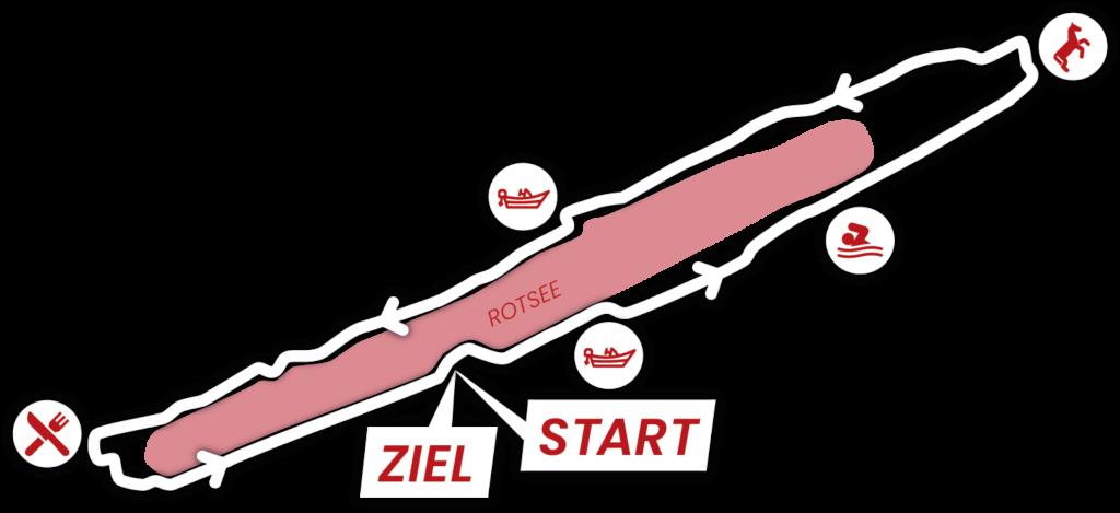 Strecke Rotsee - Start Ruderzentrum